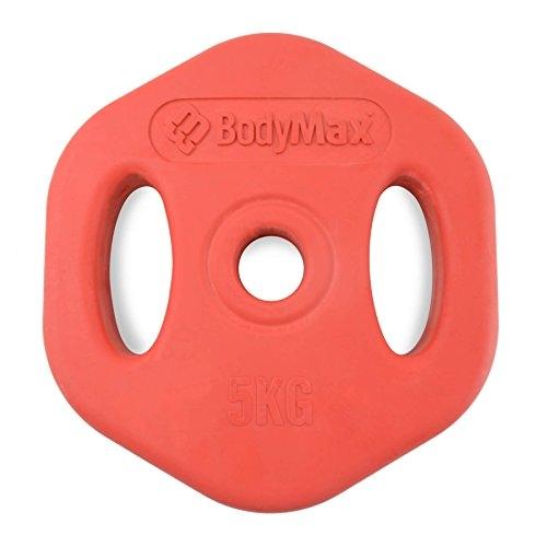 Bodymax 5Kg Red Rubber Studio Disc (single)