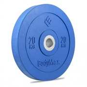 Bodymax Olympic Rubber Bumper Weight Disc Plate – Blue 20kg