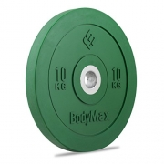 Bodymax Olympic Rubber Bumper Weight Disc Plate – Green 10kg