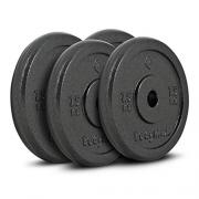 Bodymax Standard Hammertone Weight Disc Plates – 4 x 7.5kg