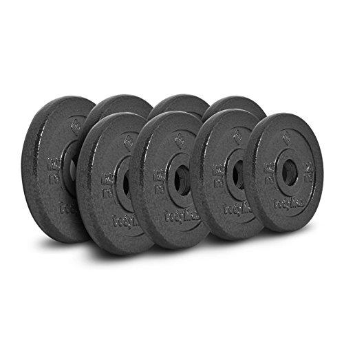Bodymax Standard Hammertone Weight Disc Plates – 8 x 1.25kg