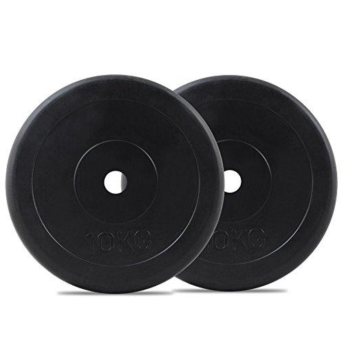 Bodymax Standard Rubber Weight Disc Plates – 2 x 10kg