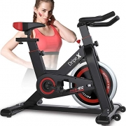 Dripex Upright Exercise Bikes (Indoor Studio Cycles) – Studio Quality with Heart Rate Monitor, Large Bidirectional Flywheel, Belt Drive, Infinite Resistance, LCD Displays, Hand Pulse【2020 Model,932】