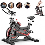 Fnova Exercise Bike Indoor Cycling for Home/Gym Use with Heart Rate Monitor, LCD Display, Pulse Sensors, Super Mute Spinning bike UK STOCK