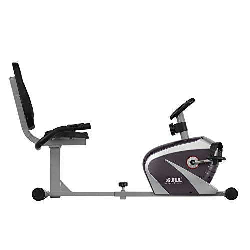 JLL RE100 Recumbent Home Exercise Bike. 5kg Two-Way Flywheel with 8 Levels of Magnetic Resistance. 6 – Levels of Seat Adjustments, Monitor Displays Speed, Distance, Time, Calories and Pulse. 12 – Months Warranty.