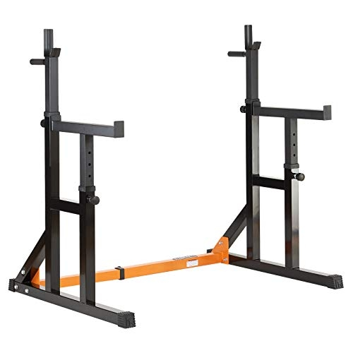 Mirafit Adjustable Squat Rack with Dip Bars & Multi Position Spotter