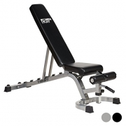 Mirafit Easy Move Fully Adjustable Weight Bench – Black or Silver